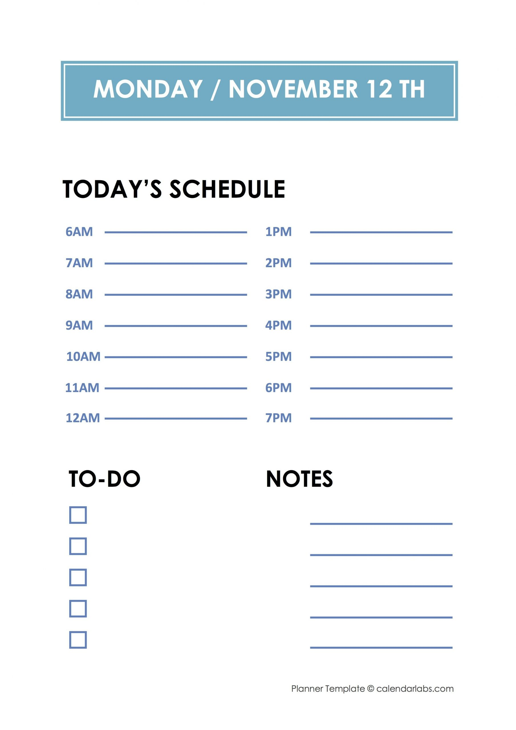 Daily Hourly Planner Template – Free Printable Templates Printable Daily Hourly Calenders
