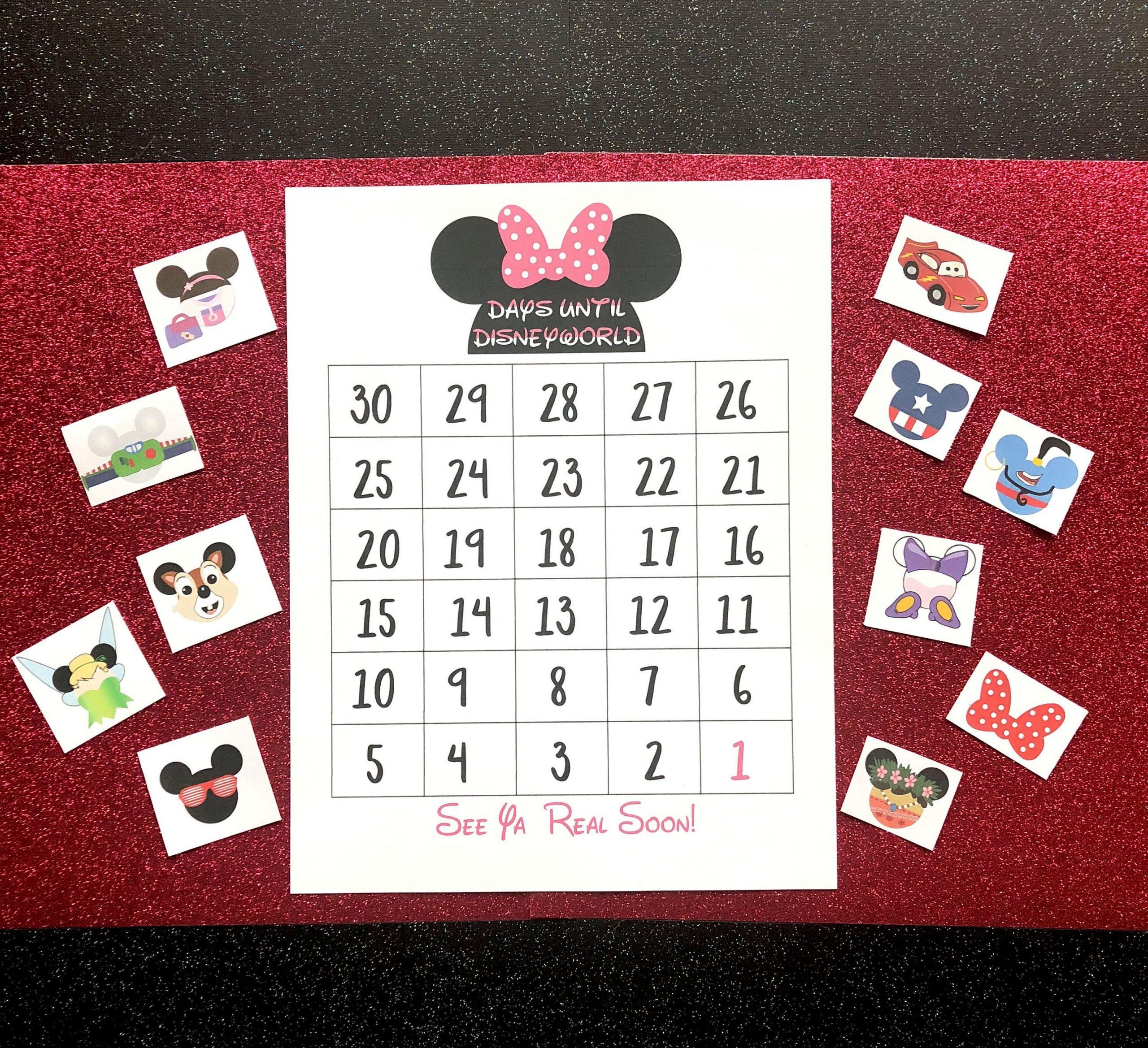 Disney, Disney World, Disneyland, Disney Cruise, Disney 365 Day Electronic Countdown Calendar