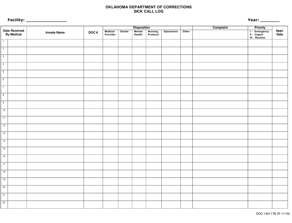 Doc Form Op 140117B Download Printable Pdf Or Fill Online Free Caolendar To Fill In Online