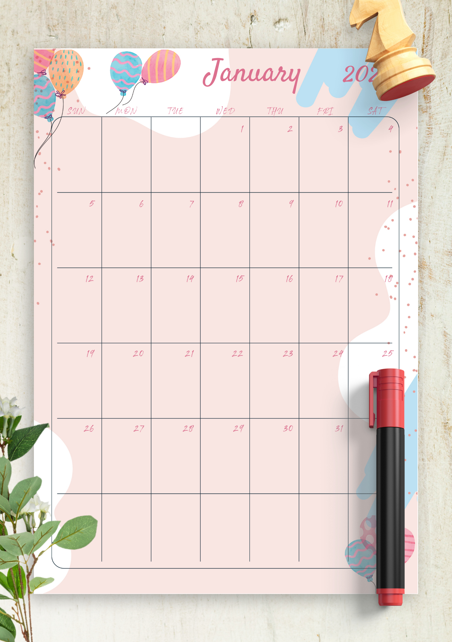 Download Printable Pink Monthly Birthday Calendar Pdf Free Editable Birthday Calendar