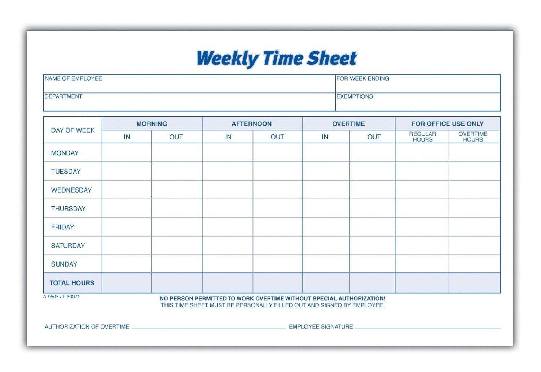 Download Weekly Timesheet Template   Excel   Pdf   Rtf Freee Printable Hr By Hr Schedule