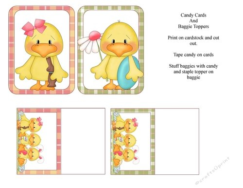 Ducky Candy Cards & Bag Toppers – Cup723774 1548 Printable Cupcakes With Numbers 1 31
