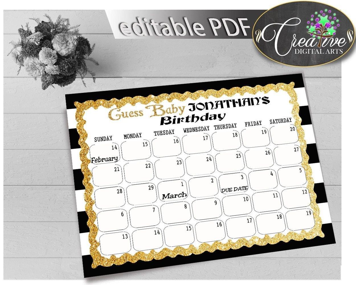 Due Date Guess February Calendar   Calendar Template 2021 Baby Calendar Free Guess