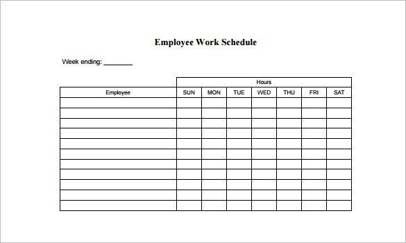 Employee Schedule Template – 14+ Free Word, Excel, Pdf Calendares To Print That Have The Week M Thru Sunday