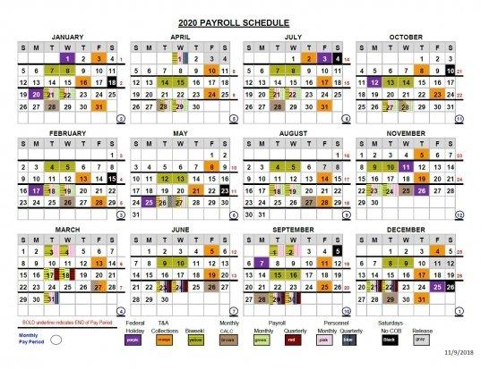 End Of Federal Pay Periods 2020 | Printable Calendar Printable 2020 Med Expiration Calendar