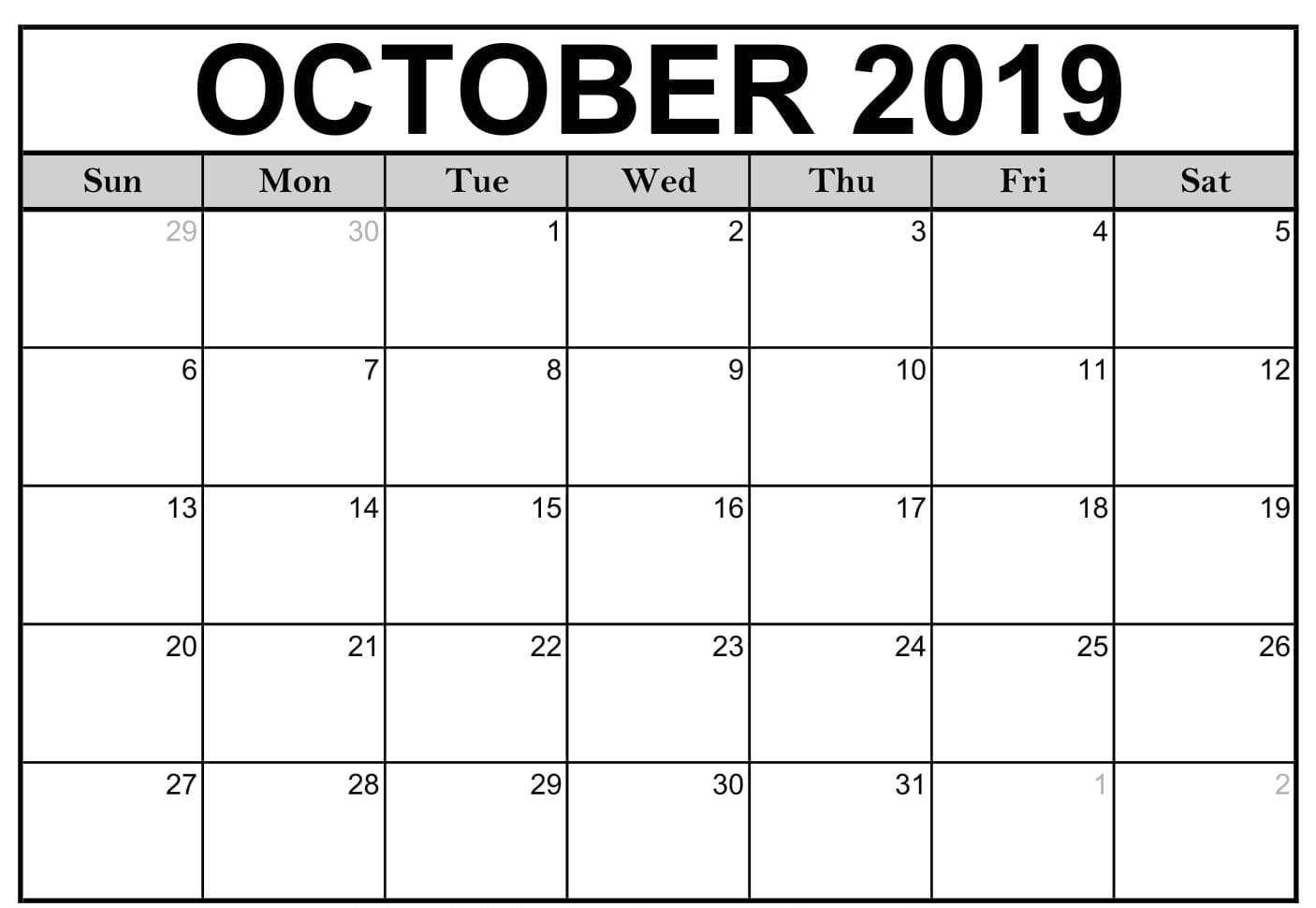 Fill In Calendar 2019 Pdf – Calendar Inspiration Design Calendar Fill In Pdf
