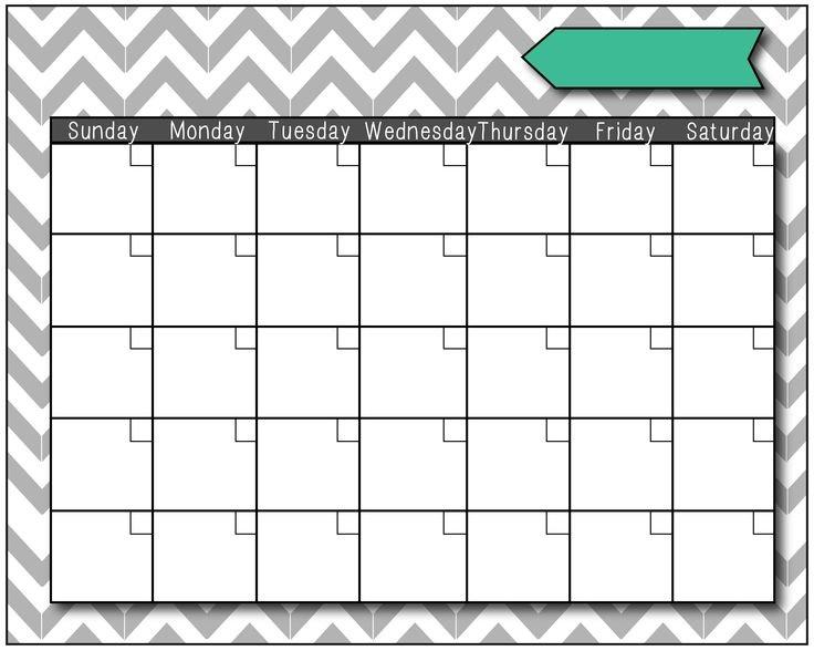 Fill In The Blank Calendar : Free Calendar Template Printable Fill In Schedule