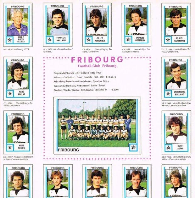 Football Cartophilic Info Exchange: Panini (Switzerland 81/2 X 11 Calenar Pages