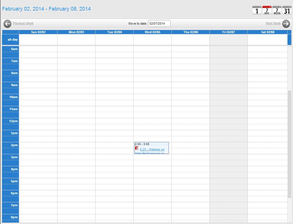 Form Type – Calendar [Workxpress] One Week Calendar To Type In
