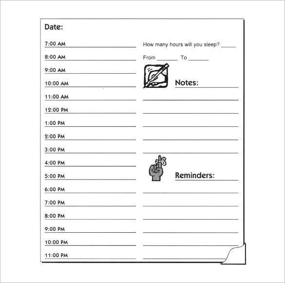 Free 14+ Hourly Planner Samples And Templates In Pdf   Ms Free Daily Calendar 1/4 Hour