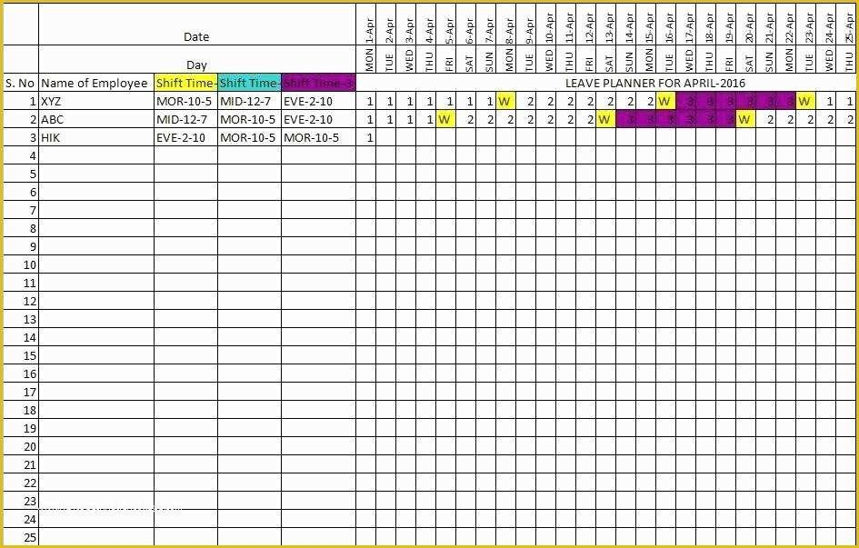 Free Annual Leave Planner Excel Template Of Free Excel Annual Hr Planning Calendar Excel