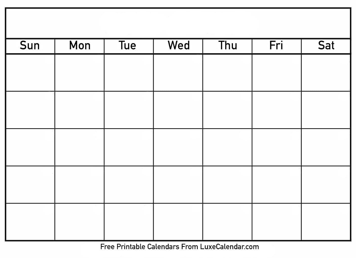 Free Blank Printable Calendar Template Weekly   Example Blank Printable 8 Week Schedule