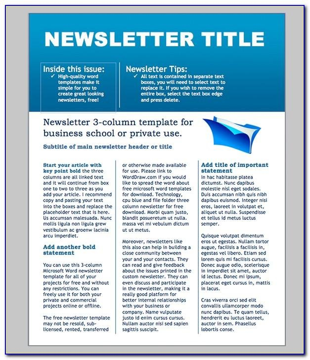 Free E Newsletter Templates For Microsoft Word | Vincegray2014 E Newsletter Content Plan Template