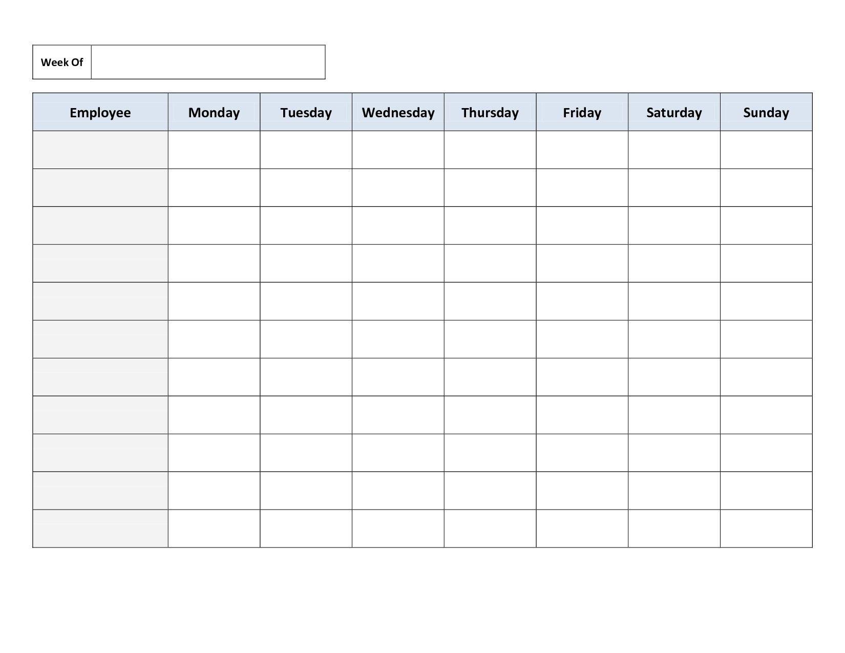 Free Fill In Weekly Schedule : Free Calendar Template Fill In Weekly Schedule