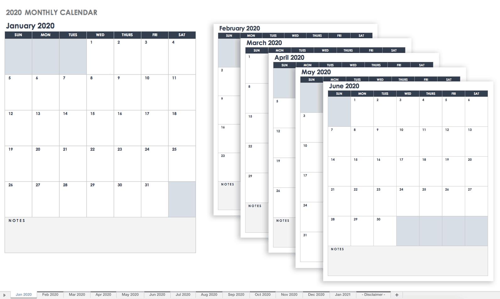 Free Google Calendar Templates   Smartsheet Large Fill In Calendar