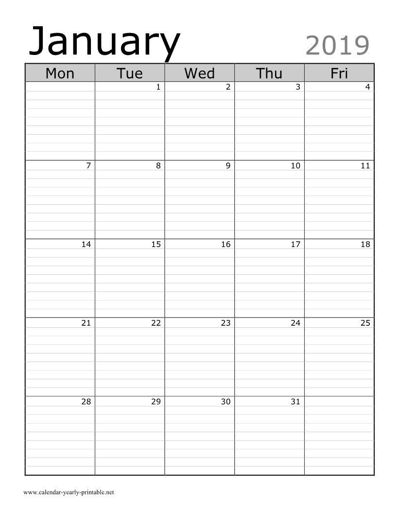 Free Lined Monthly Calendar Free | Get Your Calendar Printable Monthly Lined Calendar Template