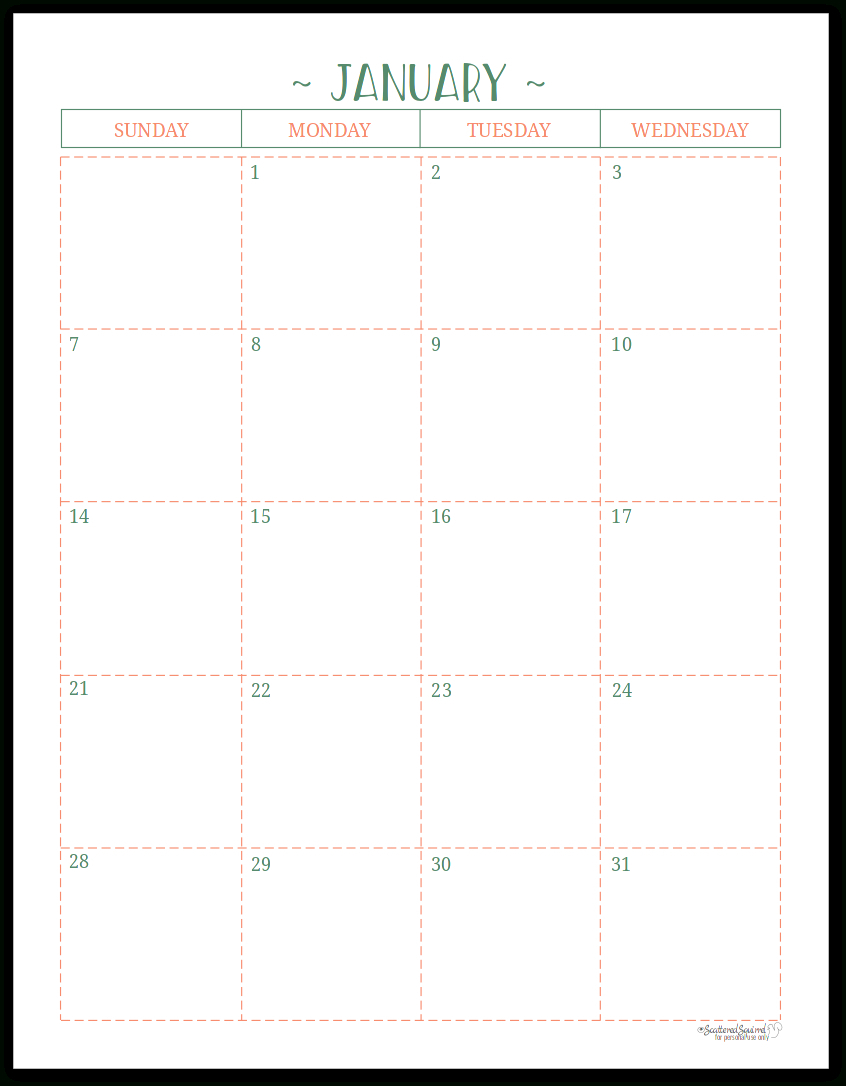 Free Printable 2 Page Calendar Blank   Example Calendar 2 Page Monthly Calendar Free