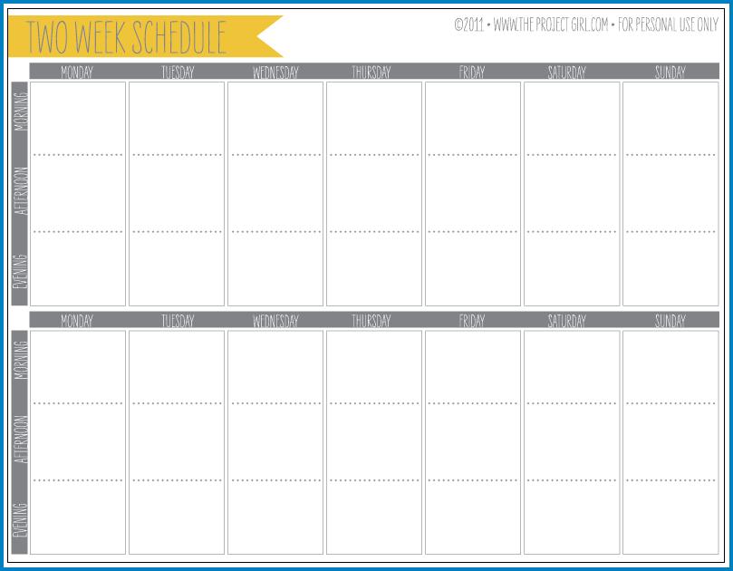 » Free Printable 2 Week Calendar Template Free Printable Calendar 2 Week