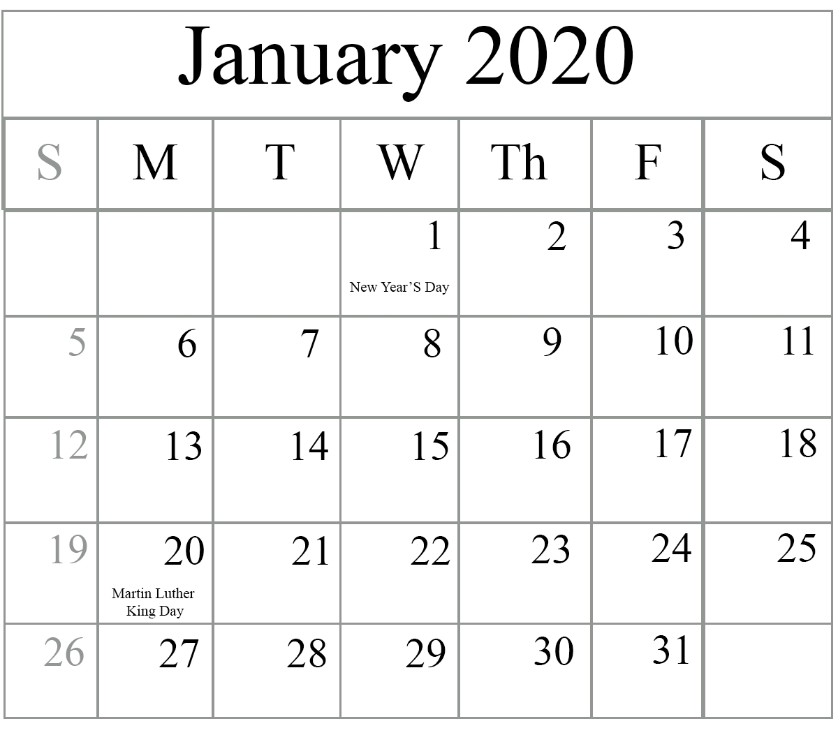 Free Printable 2020 Calendar To I Can Edit – Calendar Calendar I Can Edit