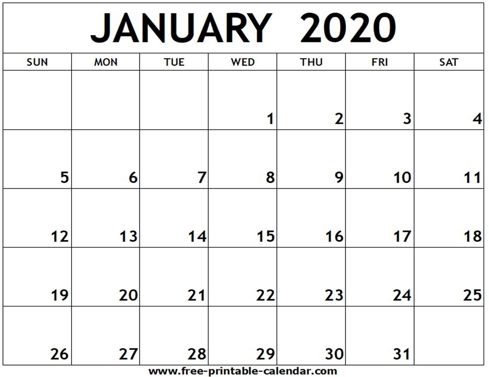 Free Printable 2020 Calendar To I Can Edit – Calendar Free Printable Calendar That I Can Edit