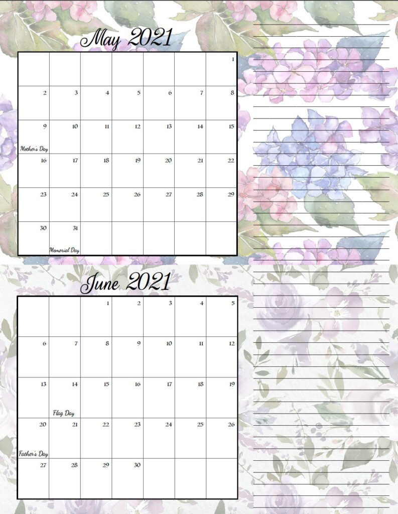 Free Printable 2021 Bimonthly Calendars With Holidays: 2 Free 2020 Checkbook Size Calendar Same Size As A Check For The Year