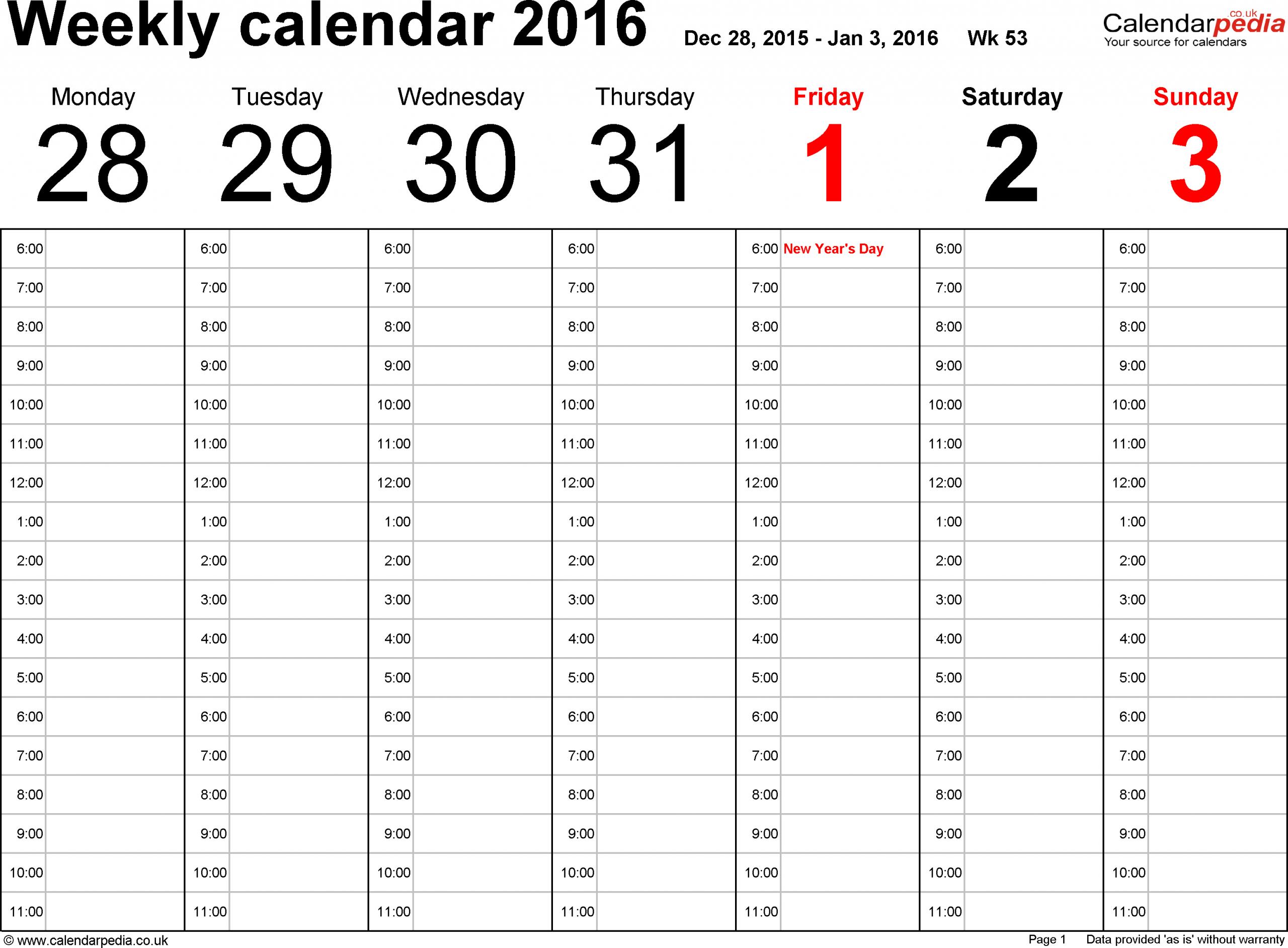 Free Printable 52 Week Calendar   Calendar Printables Free Printable Two Week Calendar Pages Free