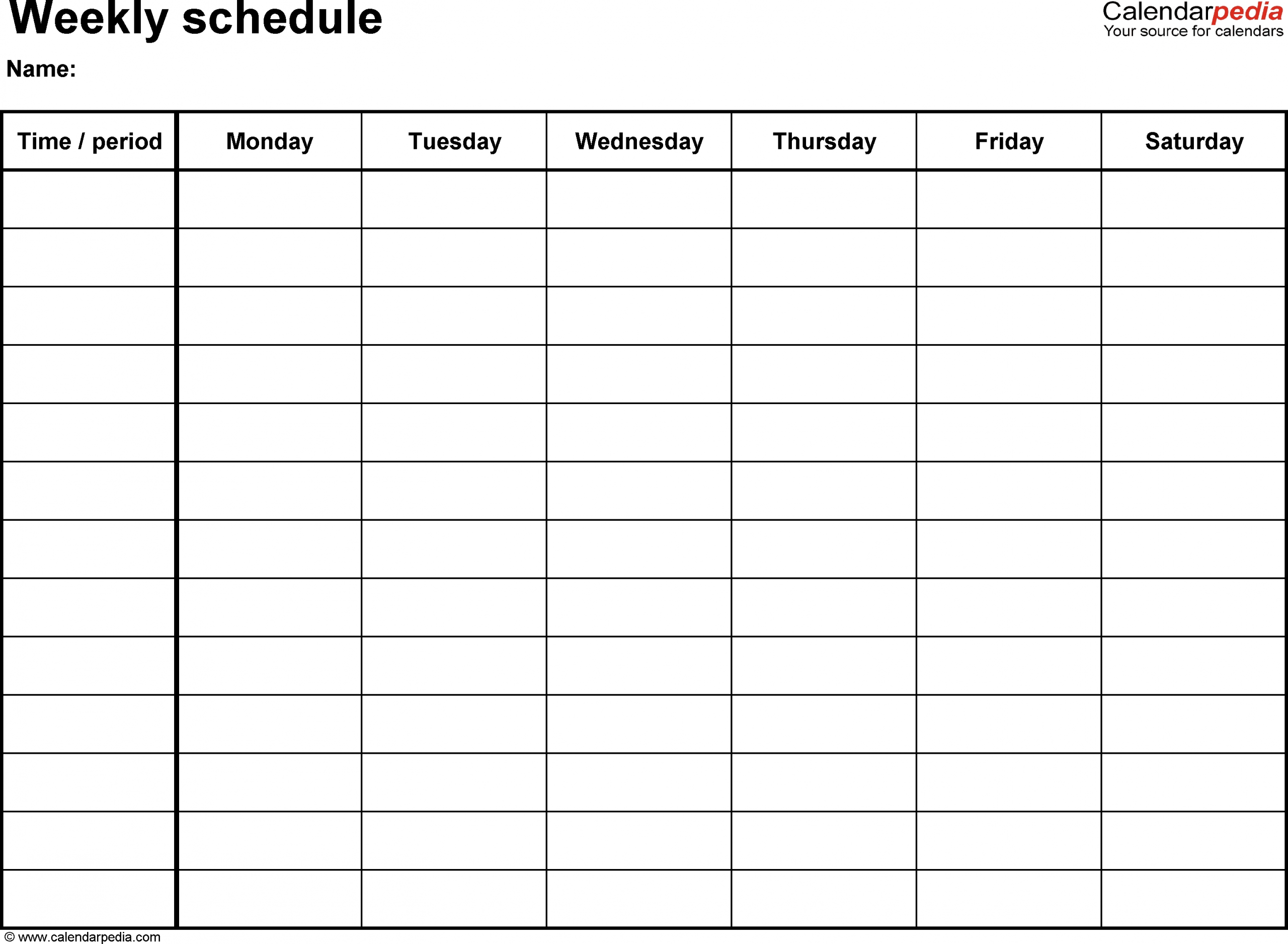 Free Printable 7 Day 15 Minute Appointment Calendar Sheets Blank 7 Day Schedule Template