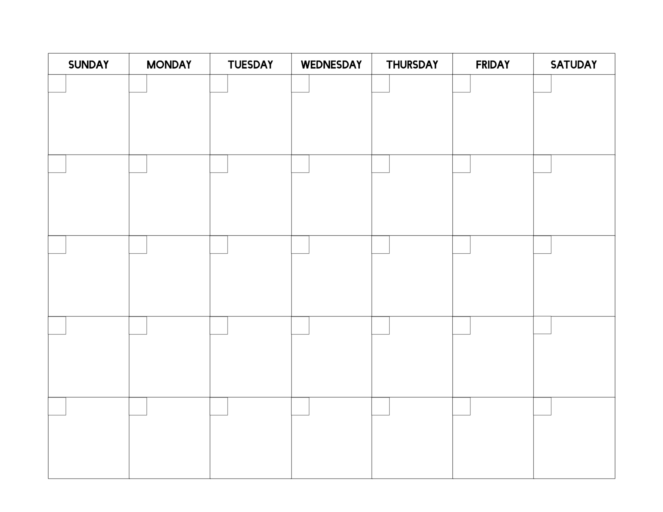 Free Printable Blank Calendar Template | Paper Trail Design Fill In Weekly Schedule