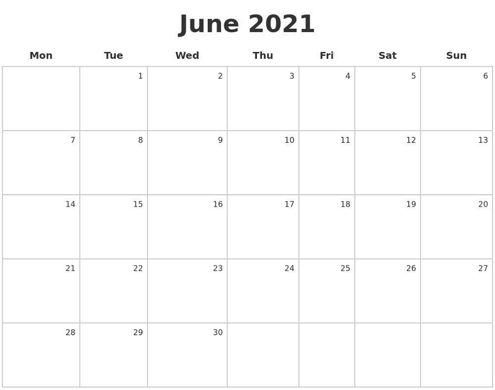 Free Printable Caldender 2021 Monday To Sunday – Calendar Free Printable Monday Sunday Schedule
