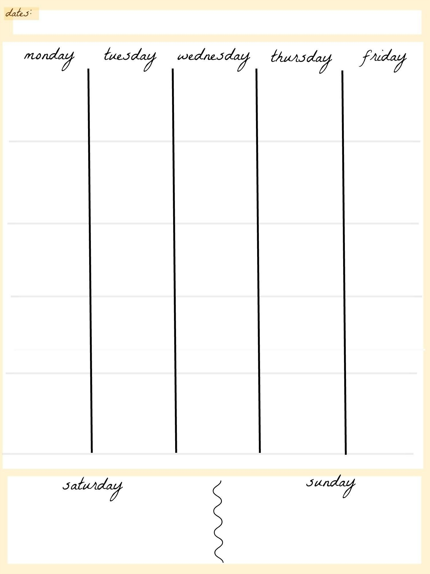 Free Printable Calendar 5 Day Week   Calendar Printables Free 5 Day Calendar Template