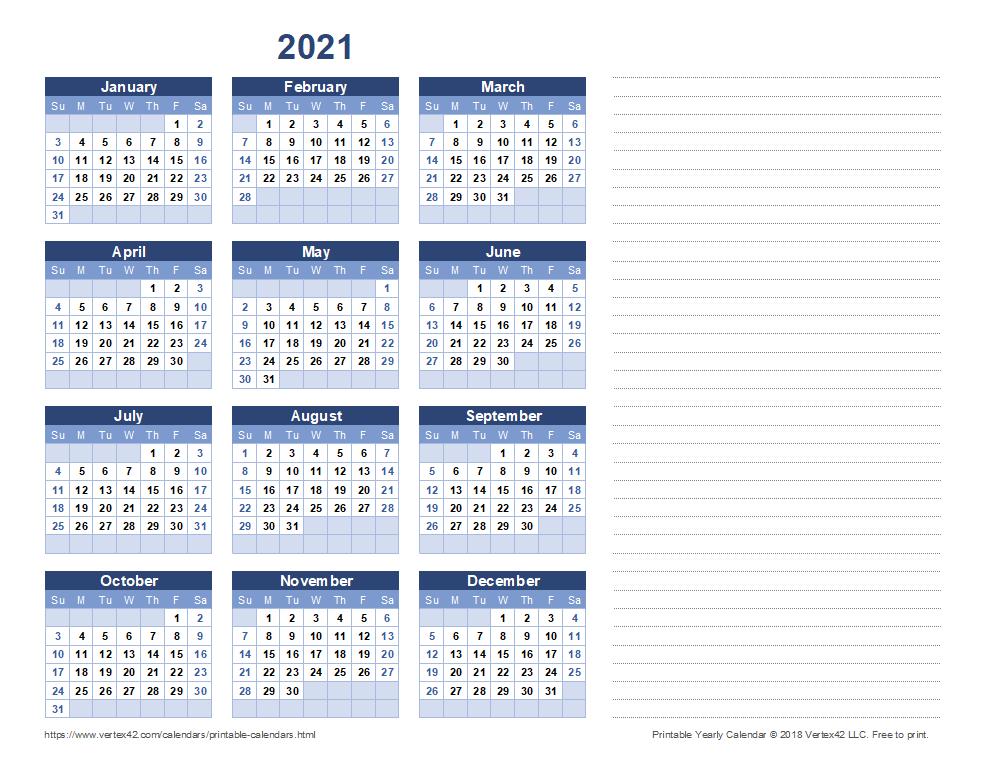Free Printable Calendar – Printable Monthly Calendars Free Printable Calendar With Notes