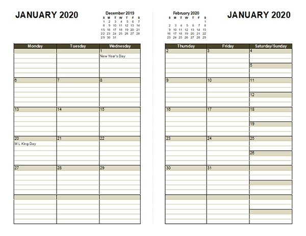 Free Printable Lined Monthly Calendar 2020 Image Free Lined Calendar Templates Printable
