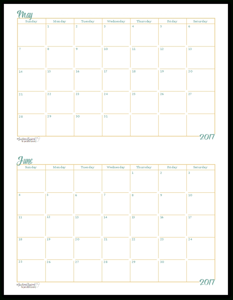 Free Printablehalf Page Calendars 2020 – Calendar Blank Monthly Calendar Page Without The Year