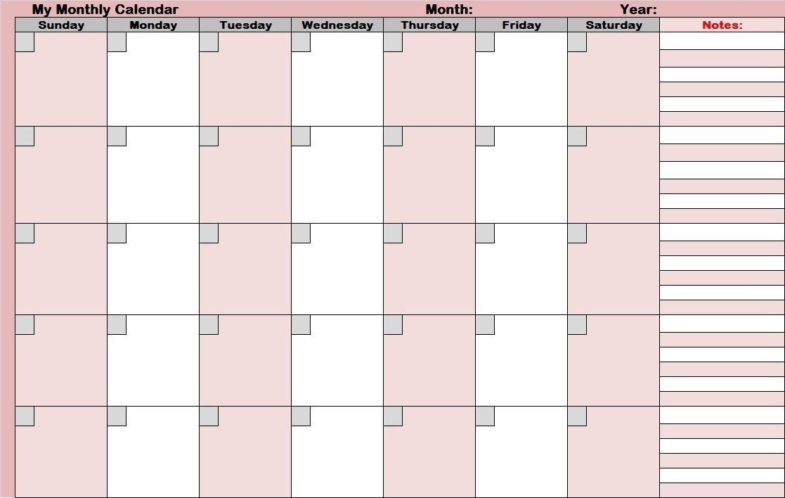 Full Size Blank Printable Calendar – Calendar Inspiration Where R My Blank Calendars