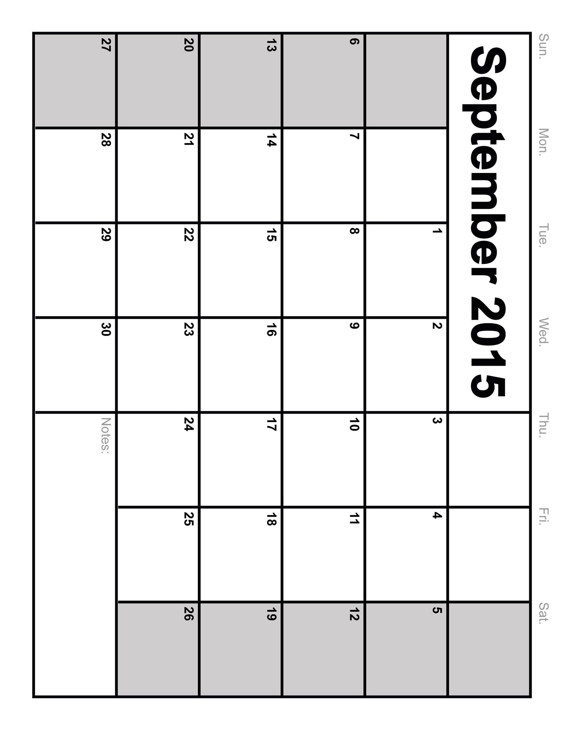 Full Size Printable Blank Calendar – Template Calendar Design Fill Out A Calender Online And Print Out
