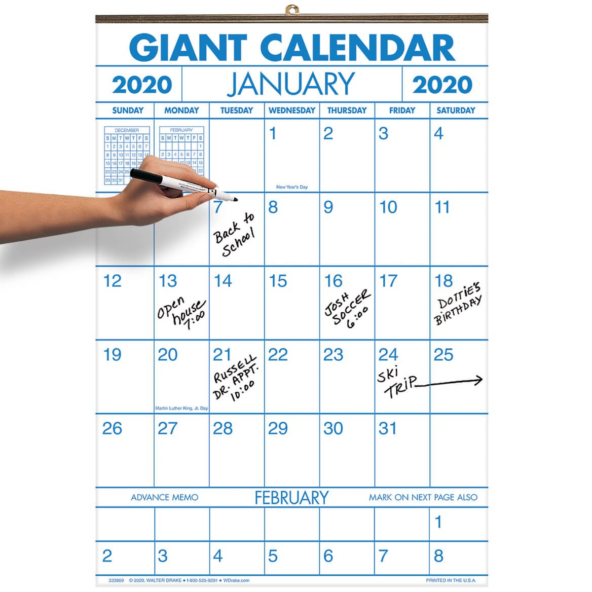 Get 2020 Printable Calendar With Large Squares   Calendar Large Square Calendar Template