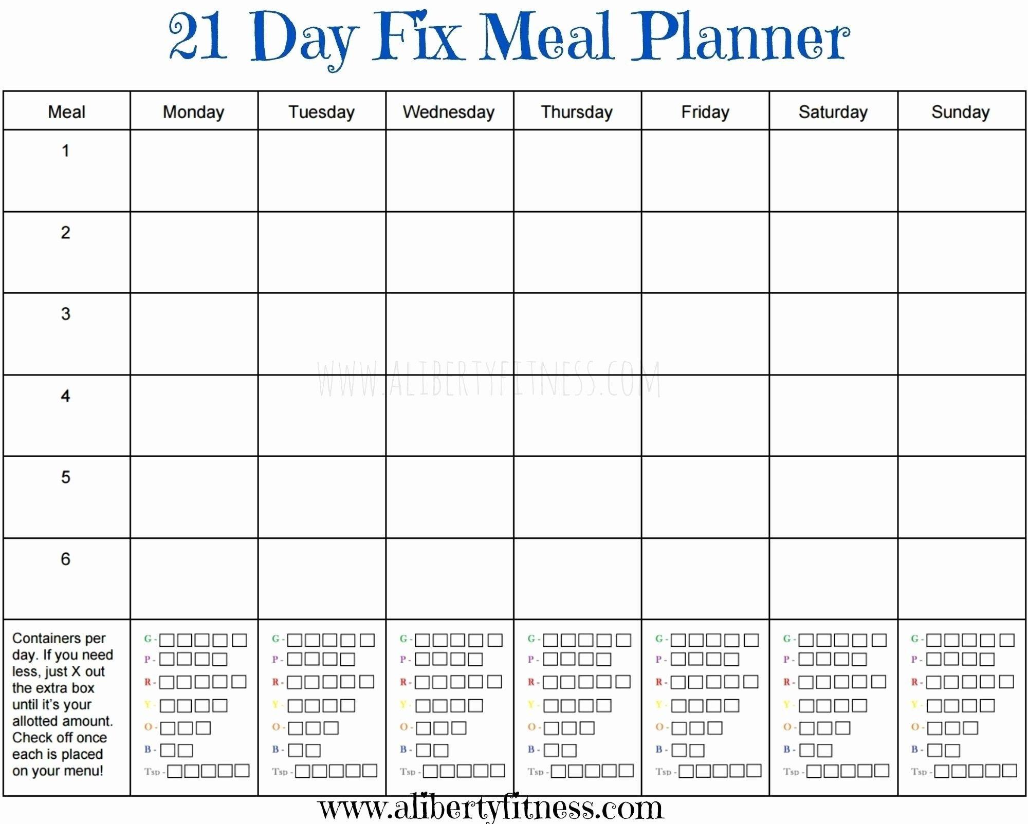 Get August 2019 Calendar Printable Org   21 Day Fix 21 Day Calendar Template