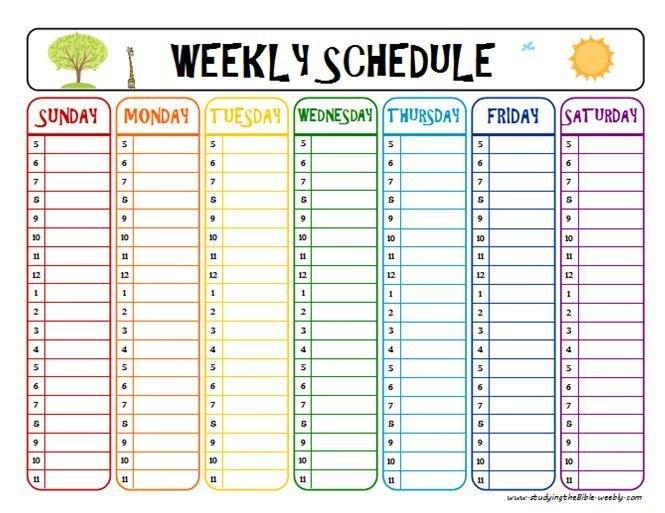 Getting Started | Weekly Schedule Printable, Daily Free Printable Weekly School Schedule With Time Slots
