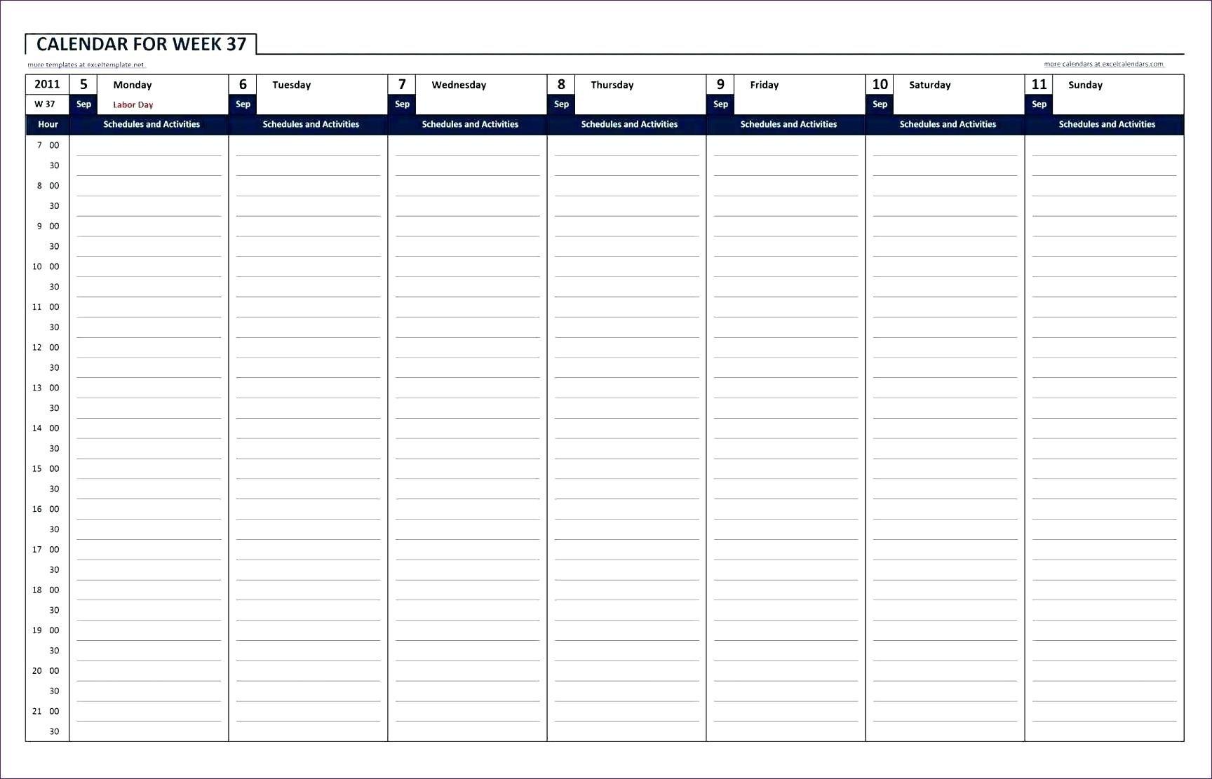 Hourhour Blank Calendars – Calendar Inspiration Design Daily Hour By Hour Printable Calendar