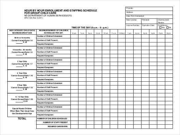 Hourly Schedule Template – 34+ Free Word, Excel, Pdf Freee Printable Hr By Hr Schedule