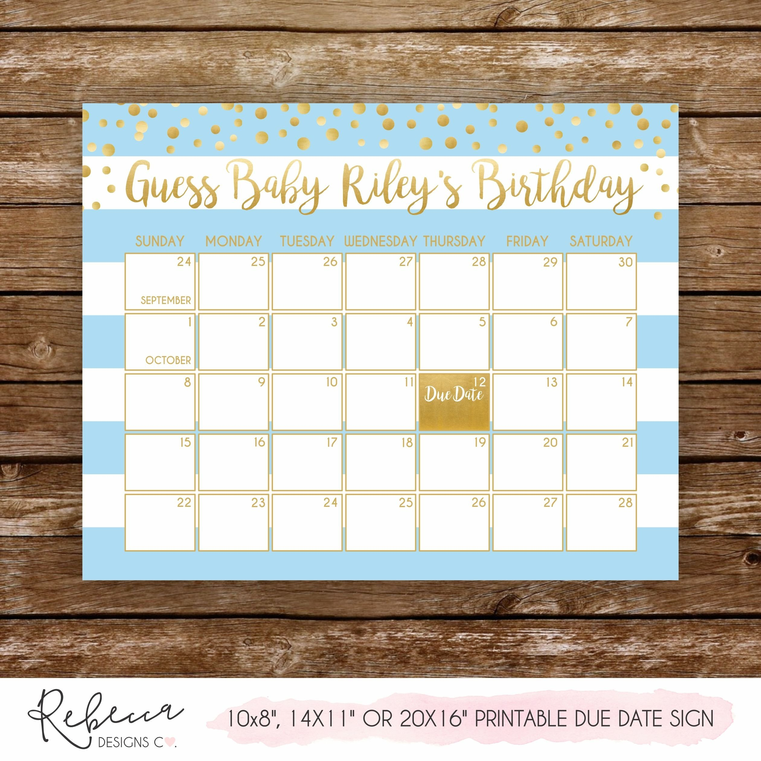 How To Baby Birth Date Guess Calender | Get Your Calendar Guess Baby'S Birth Date