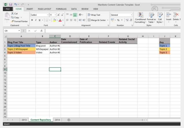 How To Create A 90 Day Content Calendar (With Free Templates) Free 90 Day Calendar Template