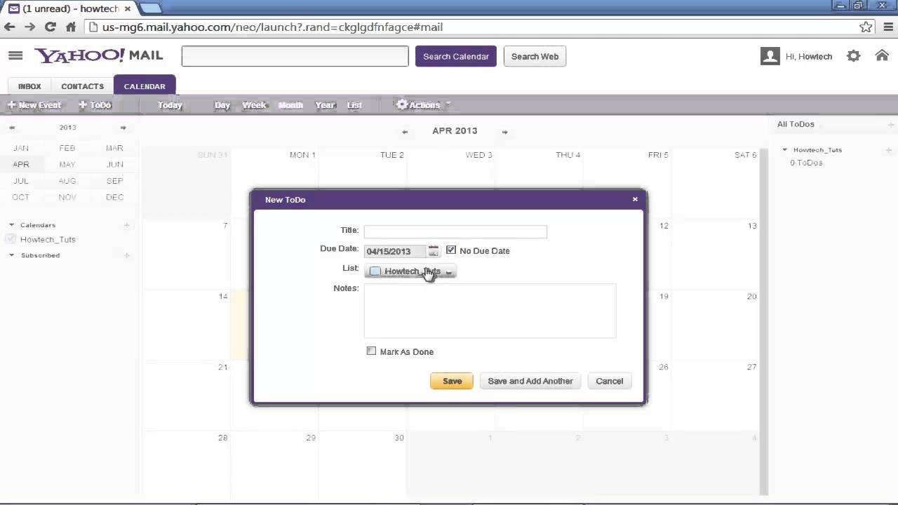 How To Use Yahoo Calendar – Youtube Calendar I Can Modify