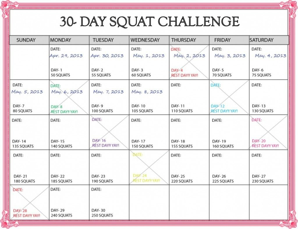 Https://Www.30-Day Squat Calendar - Calendar Template 2020 30 Day Printable Calendar