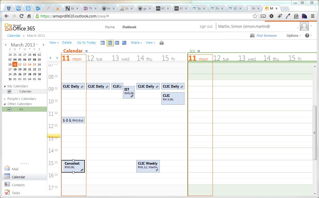 Icalendar – Can I Overlay Calendars In Office365 (Pre Calendar I Can Modify