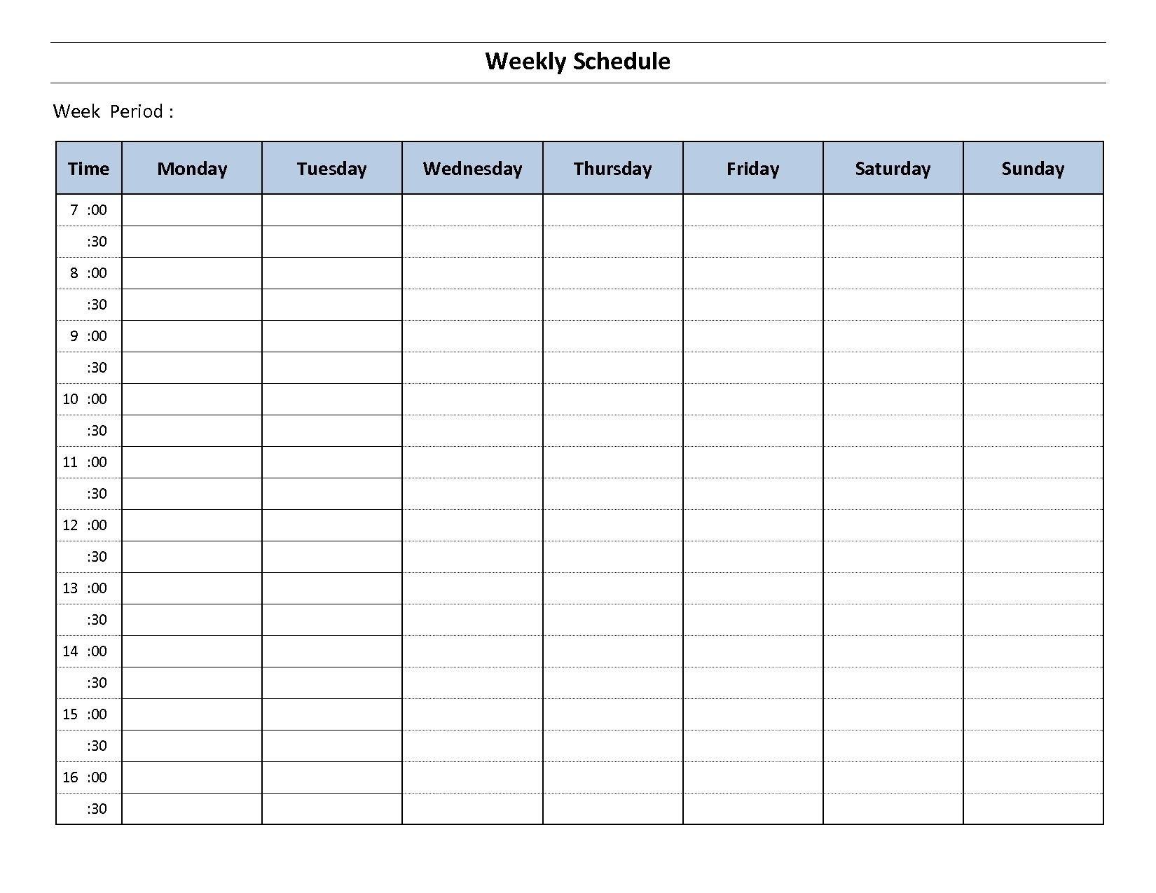 Impressive Monday Through Friday Blank Calendar In 2020 Free Blank 1 Week Calendar Monday Through Friday