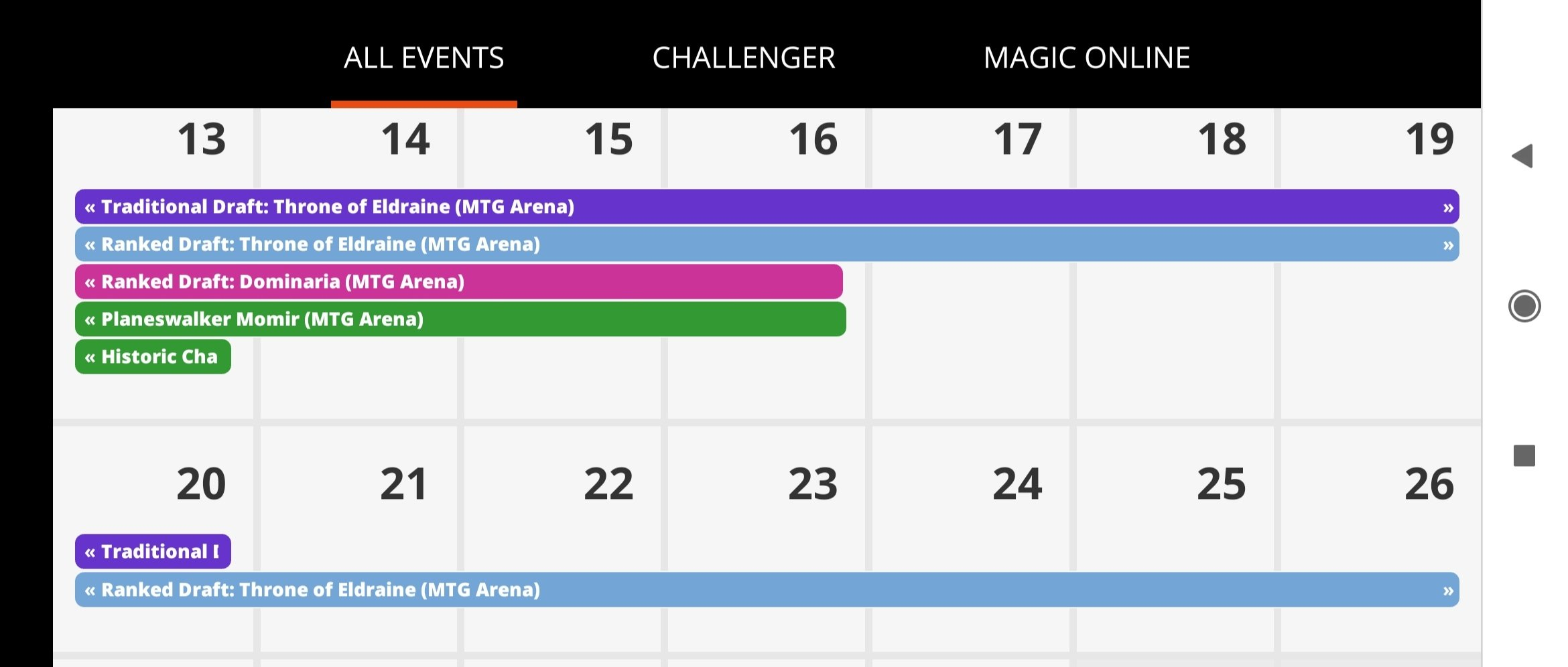 Is There Really Not Any Thb Events For This Or Next Week Next Two Week Calendar