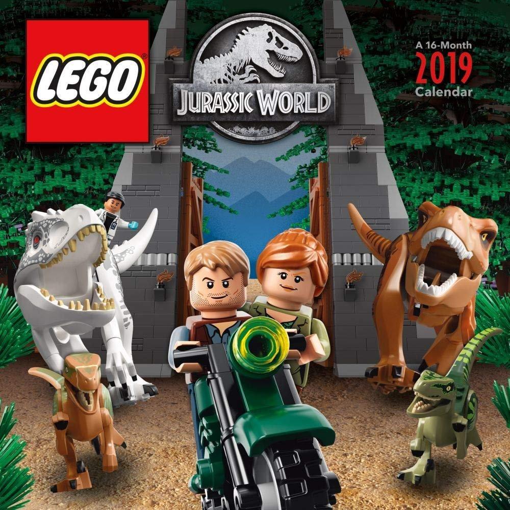 Lego Jurassic World 2019 Wall Calendar – The Brick Fan Write On Calander With Min Of 16 Line