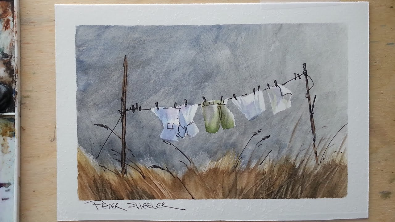 Line And Wash Of Wash On The Line :) Masking Tape To Write On Calander With Min Of 16 Line
