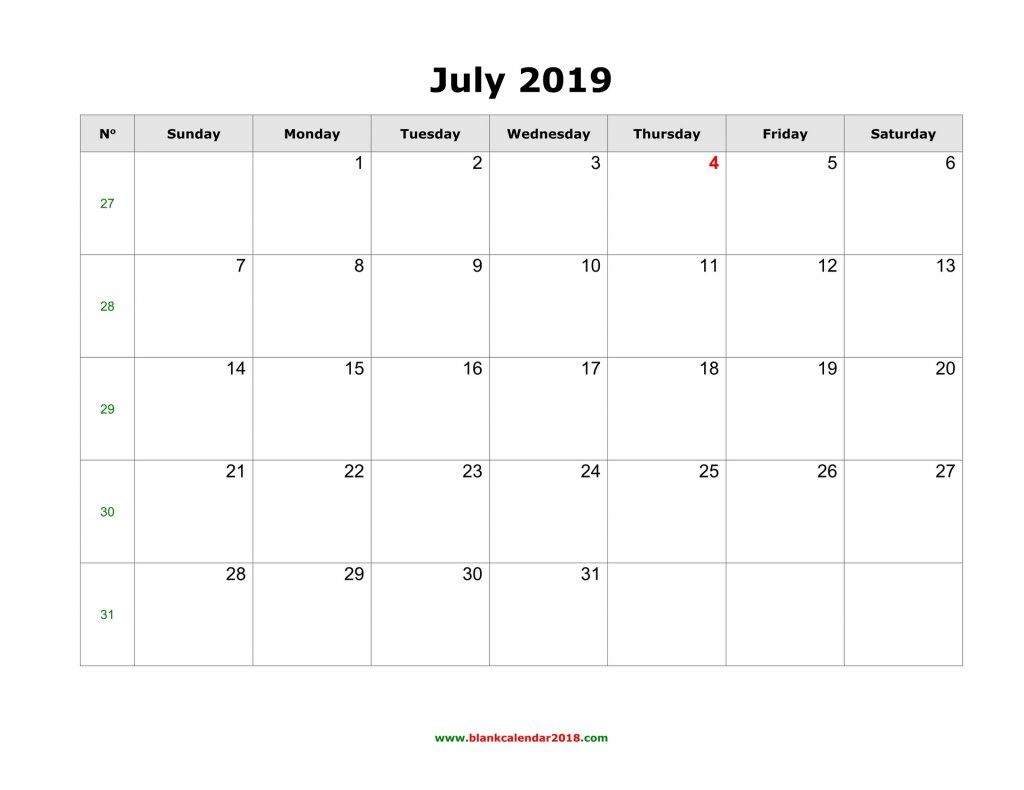 Lined July Cal;Ander – Calendar Template 2020 Blank Lined Calendar To Print